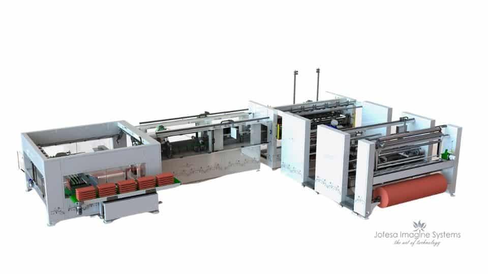 Máquina para fabricar cortinas - Auriga 2300 - Imagen en 3D