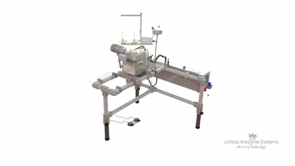 Máquina para fabricar sábanas - Compac - Imagen en 3D
