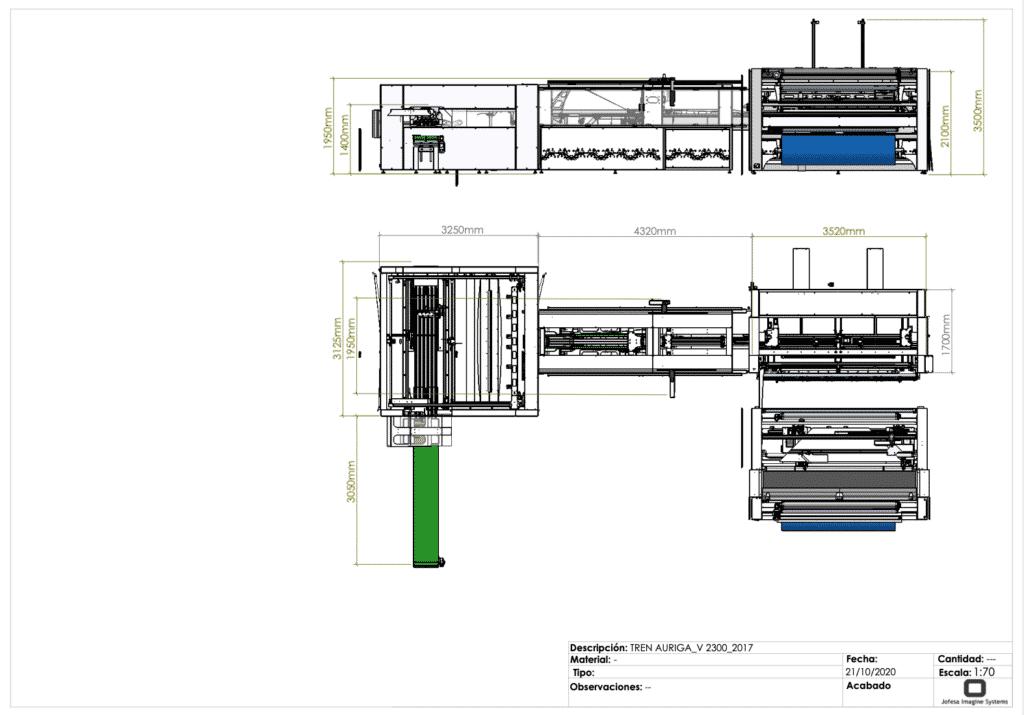 Máquina para fabricar sábanas - Auriga 2300 - Planos