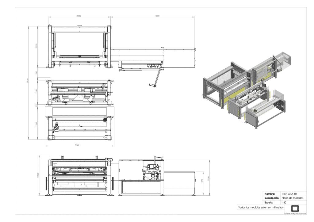 Máquina para fabricar almohadas - Ara Tri - Planos