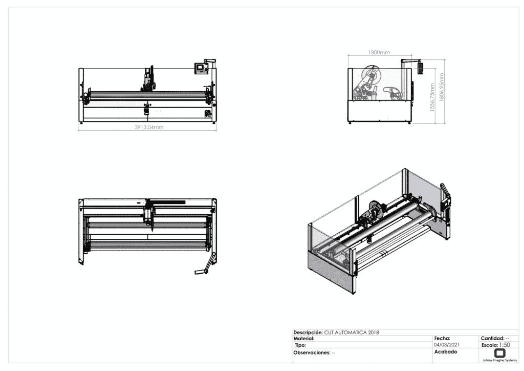 Máquina para hacer corte textil - Cut 3300 - Planos