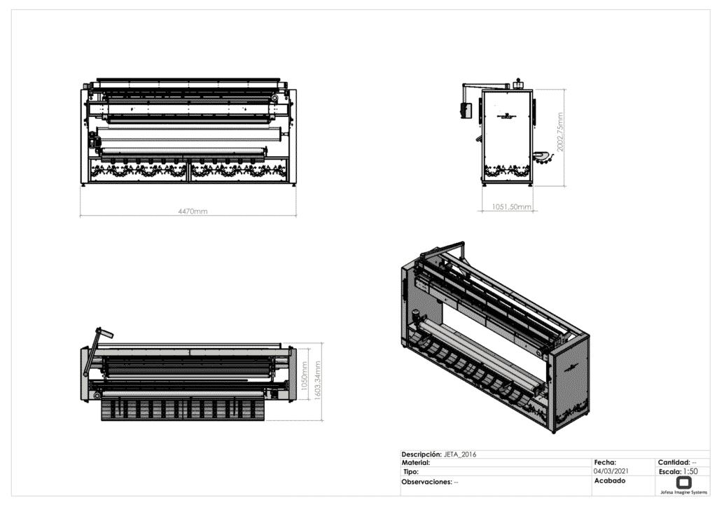 Realización de corte textil - Jetta - Planos