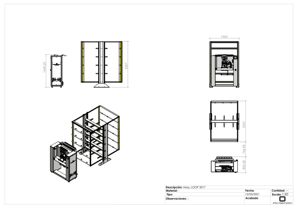 Fabricación de friegasuelos - Loop - Planos