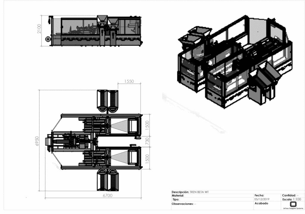 Fabricación de friegasuelos - Beta W - Planos
