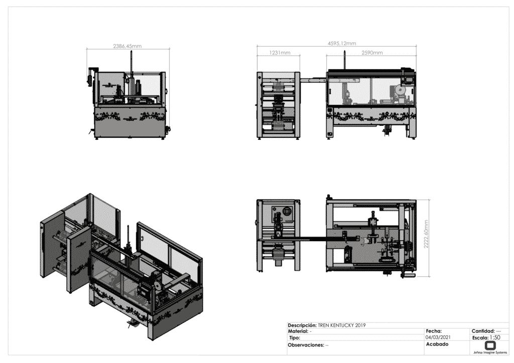 Máquina para fabricar friegasuelos - Kentucky - Planos