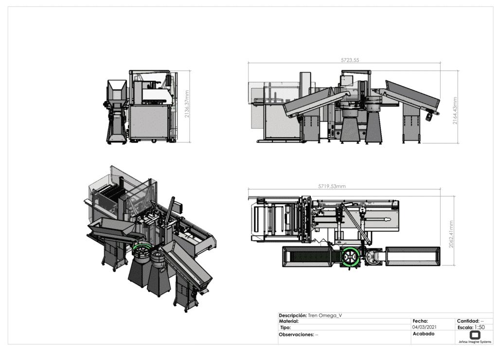 Máquina para fabricar friegasuelos - Omega V - Planos