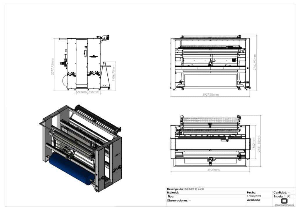 maquina para fabricar toallas - Infinity - Planos